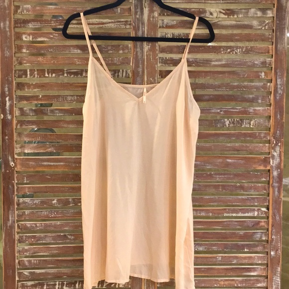 Free people nude cotton slip size medium v neck